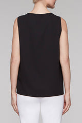 Cross-Front Asymmetrical Tank Color Black