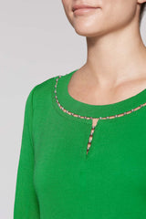Bead Accent Dress Color Agave Green
