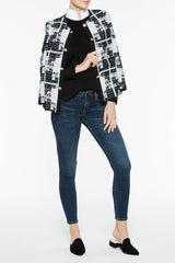 Bold Plaid Jacket Color Black/Agave Green/White