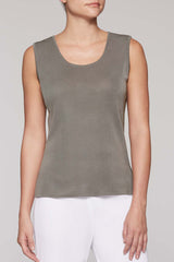 Mercury Long Scoop Neck Tank Color Mercury Grey