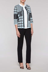 Varied Houndstooth Jacket Color Iceberg Blue/Black