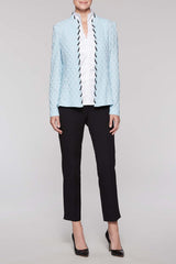 Laced Trim Jacket Color Iceberg Blue
