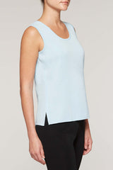 Iceberg Long Scoop Neck Tank Color Iceberg Blue