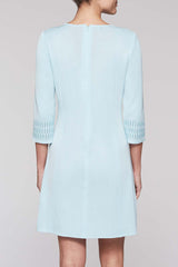 Loop Neck Dress Color Iceberg Blue
