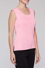 Bubblegum Long Scoop Neck Tank Color Bubblegum Pink