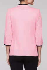Maze Pattern Jacket Color Bubblegum Pink/Black