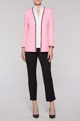 Chain Trim Jacket Color Bubblegum Pink/Black