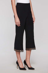 Loop Trim Capri Pant Color Black