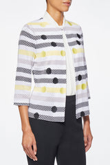 Polka Dot and Stripe Knit Jacket – Ming Wang