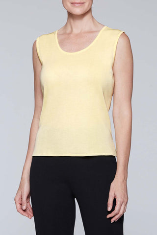 Lemonade Scoop Neck Tank Color Lemonade Yellow
