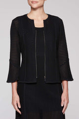 Fitted Mitre Stripe Jacket Color Black