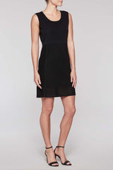 Mitre Stripe Dress Color Black