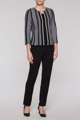 Pearl Trim Jacket Color Black/White