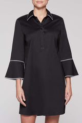 Poplin Shirt Dress Color Black/White