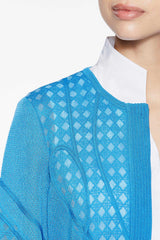 Ribbon Knit Soutache Jacket Color Twilight Blue