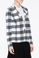Bold Check Jacket Color Black/White