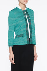 Stud and Sheen Jacket Color Bermuda Teal/Black