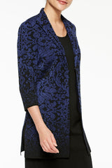 Floral Ombre Pattern Knit Jacket