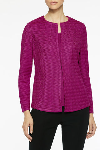 Tonal Sunburst Knit Jacket Color Vivid Viola