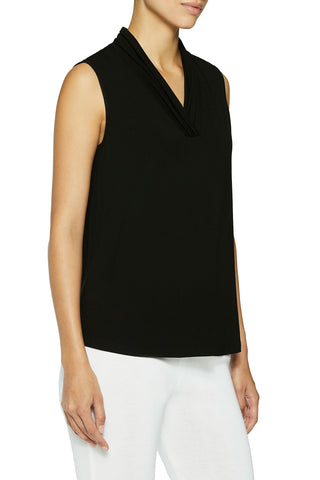 V-Neck Jersey Tank Color Black
