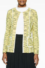 Lattice Trim Tweed Jacket