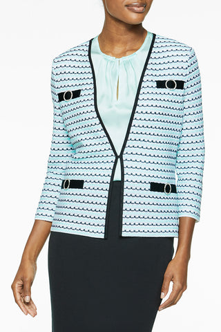 Crystal Accent Knit Jacket