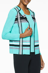 Multi Stripe Knit Jacket