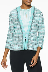 Fringe Trim Tweed Jacket