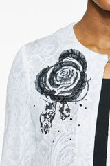Placed Rose Knit Jacket