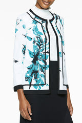 Plus Size Hand-Painted Floral Knit Jacket – Ming Wang