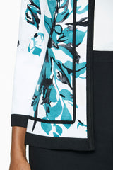 Hand-Painted Floral Knit Jacket – Ming Wang