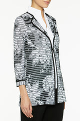 Botanical Stripe Knit Jacket – Ming Wang
