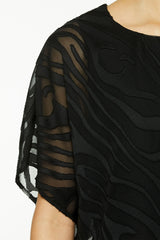 Crepe Popover Dress Color Black