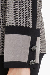 Bold Glen Check Knit Tunic Color Mink/Black