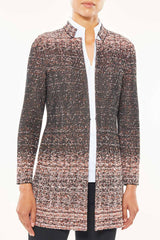 Plus Size Long Ombre Tweed Jacket – Ming Wang