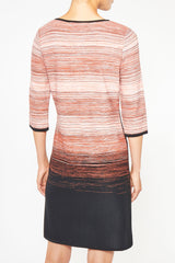 Ombre Stripe Knit Dress – Ming Wang