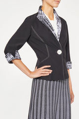 Studio Crepe Pattern Lapel Jacket – Ming Wang