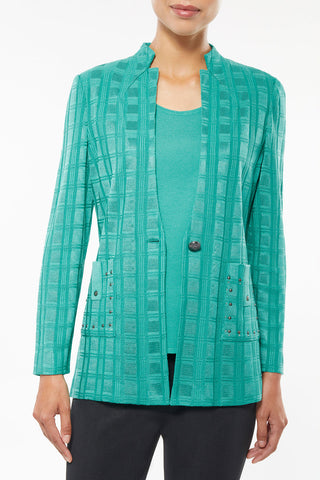 Tonal Texture and Sheen Knit Jacket – Ming Wang