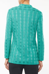 Plus Size Tonal Texture and Sheen Knit Jacket – Ming Wang