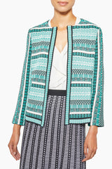 Modern Multi-Stripe Tweed Jacket – Ming Wang
