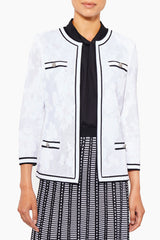 Plus Size Sheer Subtle Floral Knit Jacket – Ming Wang