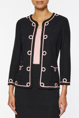 Soutache Loop Trim Knit Jacket – Ming Wang
