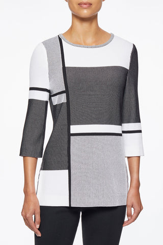 Multi Stripe Colorblock Knit Tunic – Ming Wang