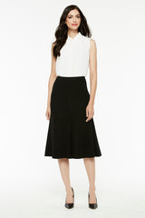 Long Flared Skirt Color Black