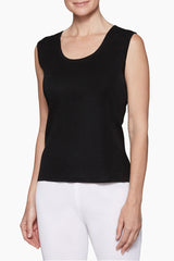 Scoop Neck Tank Color Black