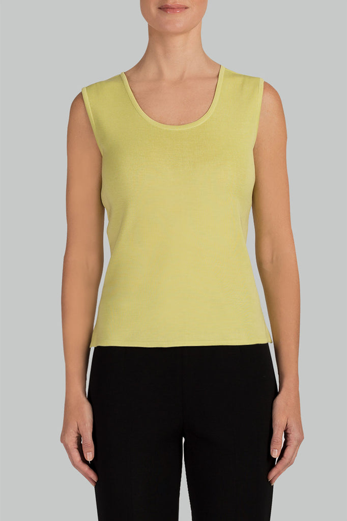Aurora Scoop Neck Knit Tank Color Aurora