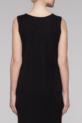 Black Sweetheart Neck Tank Color Black