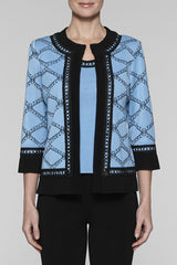 Bluebonnet Diamond Stitch Jacket Color Bluebonnet/Black