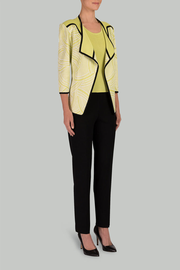 Contrasting Textured Jacket Color Aurora/Black/White