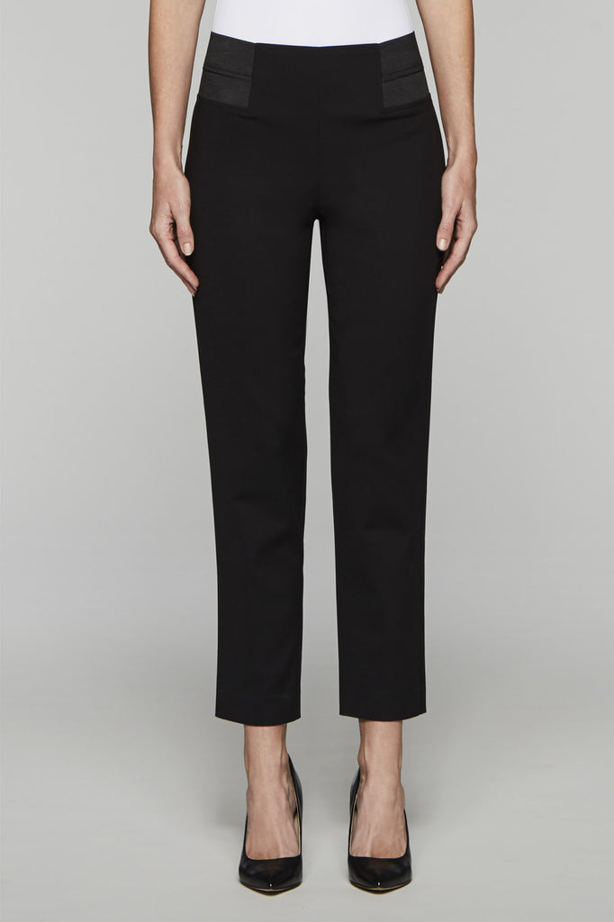 Elastic Waist Techno Pant Color Black